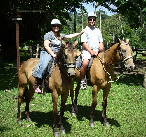 Olivia and I Horse Riding, December 2009
