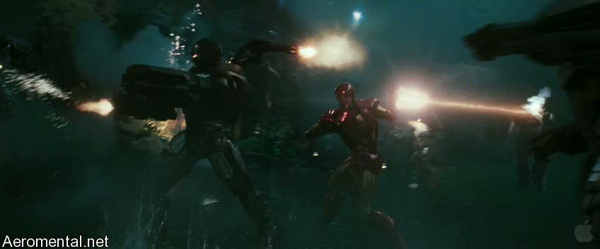 Iron Man 2 Trailer 2 War Machine guns