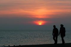Evening stroll (piktaker) Tags: sunset thames estuary esplanade walkers riverthames southend southendonsea thamesestuary