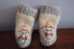 Baby Mocs: Front 2 (kraftworkin) Tags: baby knitting babybooties mocs purlbee babymoccasins