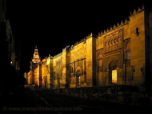 La mezquita de noche.