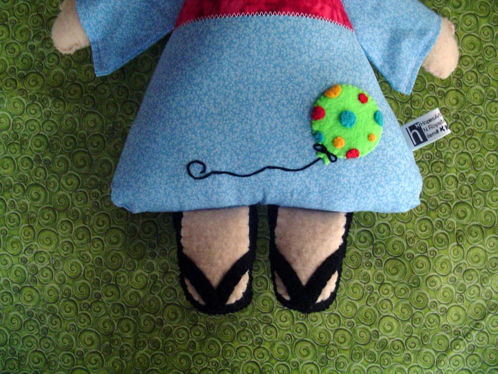 Kimono Kids Doll Boy (feet and balloon detail)