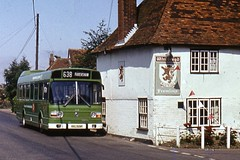 Maidstone and District KKL529P (mrorganist) Tags: nbc pub whitbread redlion fremlins hernhill maidstonedistrict leylandnational 3529 kkl529p