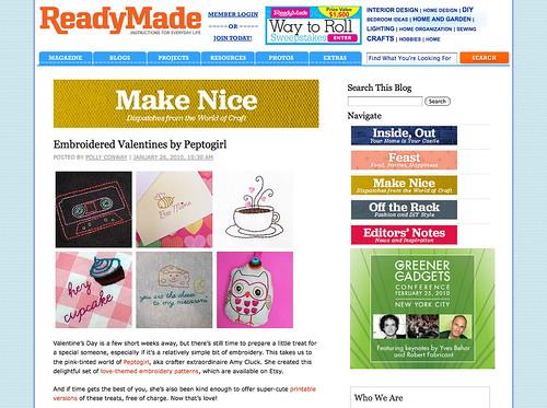 ReadyMade blog