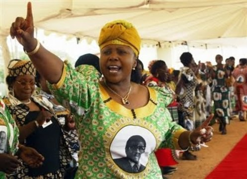 Oppah Muchinguri, leader of the Women's League of ZANU-PF, the ruling party of the Republic of Zimbabwe. She holds the position of Minister of Women's Affairs, a cabinet post inside the government. by Pan-African News Wire File Photos