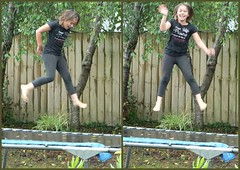 Wet, what wet . . .? (Sandy Austin) Tags: rain trampoline granddaughter barefoot ruby myfamily descalos descalzos scalzi piedsnus piedinudi panasoniclumixdmcfz5 sandyaustin