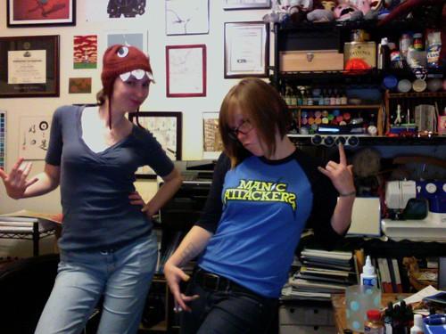 Me and Becki, new haircut!