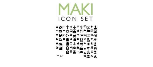 Maki Icon Set