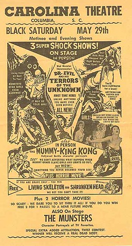 SPOOK SHOW Flyer featuring KING KONG