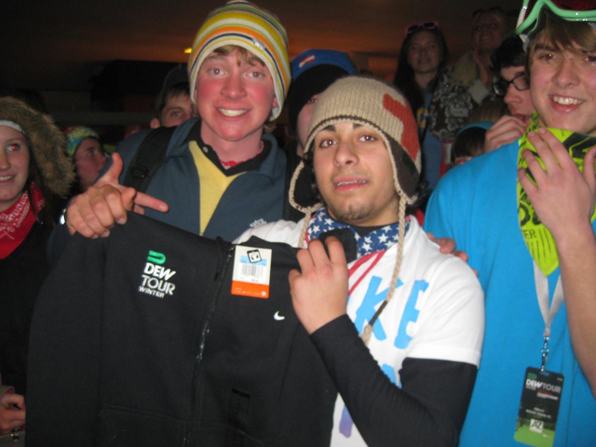 Lucky sweatshirt winner