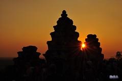 吳哥窟日落 Angkor Sun set, Cambodia