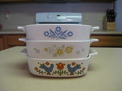 Corning Ware (twin72) Tags: vintage casserole corningware countryfestival thrifted floralbouquet bluecornflower 1quart