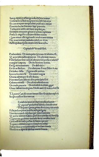 Page of text from Lucretius Carus, Titus: De rerum natura