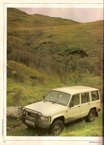 Isuzu Trooper Diesel   Land Rover 90 County SWB Diesel U0026 Mitsubishi Shogun  LWB Diesel 4x4