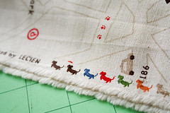 Dream Fabric Selvedge (badskirt) Tags: street dogs japanese map linen dachshund fabric quirky lecien happystreet