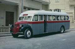 Maltese bus on the Island of Gozo - May, 1983 (Deadmans Handle) Tags: buses classicbuses maltesebuses dodgebuses