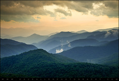 Blue Ridge Parkway WNC Photography - Evening Glow (Dave Allen Photography) Tags: nightphotography morning sunset vacation mountain mountains nature clouds sunrise landscape outdoors photography eveni