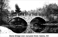 Arch (Stone) Bridge, Keene NH (Keene and Cheshire County (NH) Historical Photos) Tags: bridge river keene courtstreet stonebridge keenenh archbridge keenenewhampshire ashuelotriver doublearchbridge jafrench