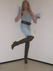 Old jeans and new boots (sabine57) Tags: drag tv cd crossdressing tgirl transgender jeans tranny transvestite crossdresser crossdress transvestism