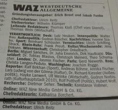 WAZ: Impressen (2 x Impressum)
