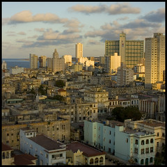 Havana evening skyline (steverichard) Tags: city travel light shadow sky urban rooftop skyline architecture buildings photo cityscape image capital elevator havana cuba ciudad malecon caribbean 1956 cuban nacional kuba viajar cite lahabana vedado focsa steverichard srichardimages