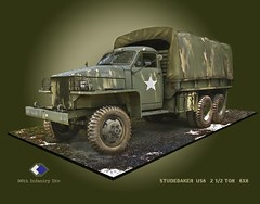 Studebaker 2 1/2 ton US6  6x6 ((The) Appleman) Tags: infantry truck war pacific military wwii cargo lorry okinawa studebaker engineers 96th graphicillustration 212ton fotocreations novaman396