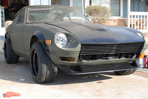 Datsun 240z with ZG flares and BRE front lip