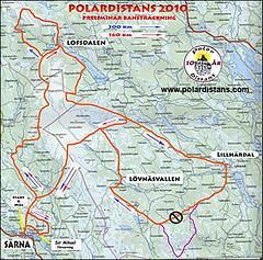 Polardistans Trailkarte
