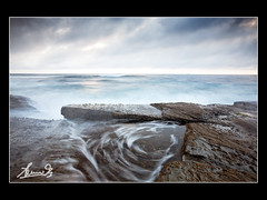 Terrigal Swirls (sachman75) Tags: longexposure morning sunrise dawn rocks waves australia nsw canon5d centralcoast firstlight terrigal 1740mml singhray varinduo
