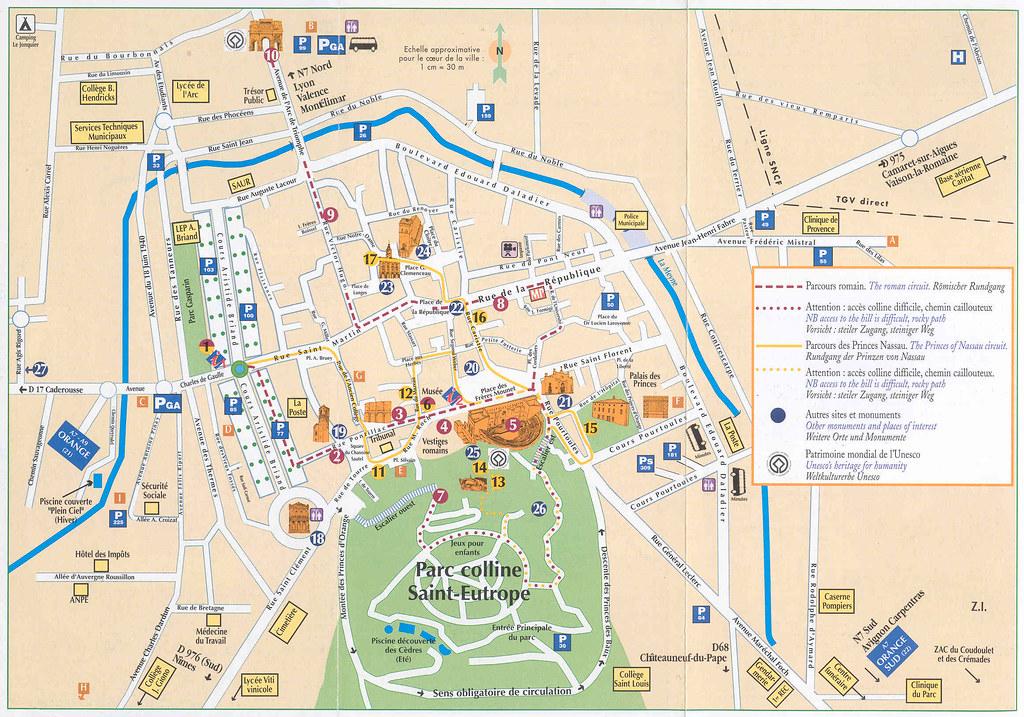 mapa orange