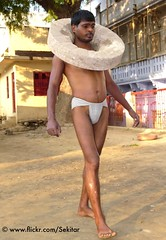 Kushti Wrestler with a 90 kg Stone...,  Tulsi Ghat Akhara, Varanasi (Sekitar) Tags: shirtless india man male stone wrestling indian varanasi hanuman strong wrestler tulsi pradesh benares ghat uttar uttarpradesh akhara sekitar kusthi gymnasia kushti kusti pehlwani ©sekitar