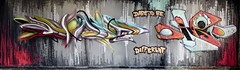 the whole wall (mrzero) Tags: wall graffiti europe hungary different peace eger style tunnel be rest tribute dare piece mrzero bki