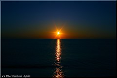 Sea Sunset - Turkey (A_Alfaleh  ) Tags: ocean blue sea sky sun reflection set canon horizon 7d orang mywinners theunforgettablepictures goldstaraward