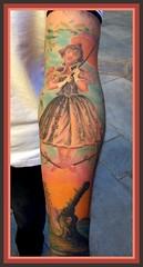 Anthony's Tattoo... (cinderella.girl63) Tags: gator disneyland alligator disney haunted tightrope hauntedmansion umbrela crocadile