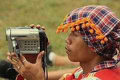 Lumad w/ videocam: Keeping up with the times (vic_bonefixer(catching up)) Tags: bukidnon kaamulan lumad manobo