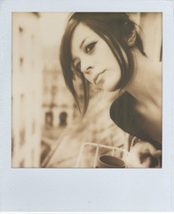 On the look out (emilie79*) Tags: selfportrait testshot polaroidsx70 noautofocus impossibleproject px100fffilm