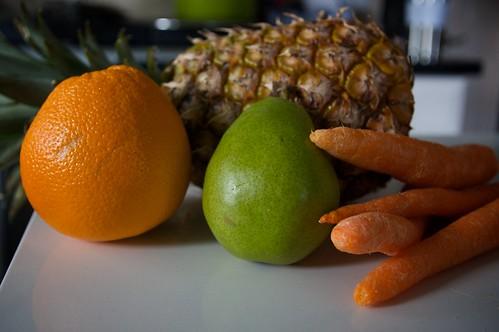 pineapple, carrot, pear & orange juice