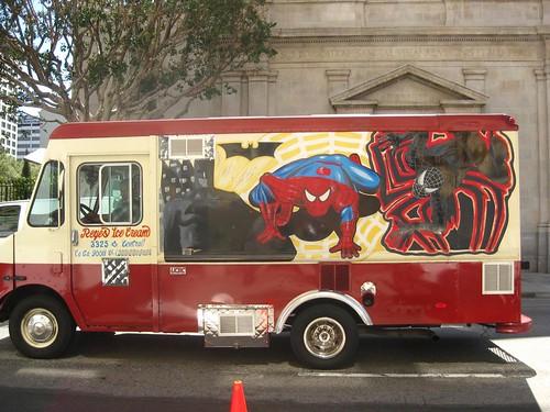 Spider-Man-ish taco truck