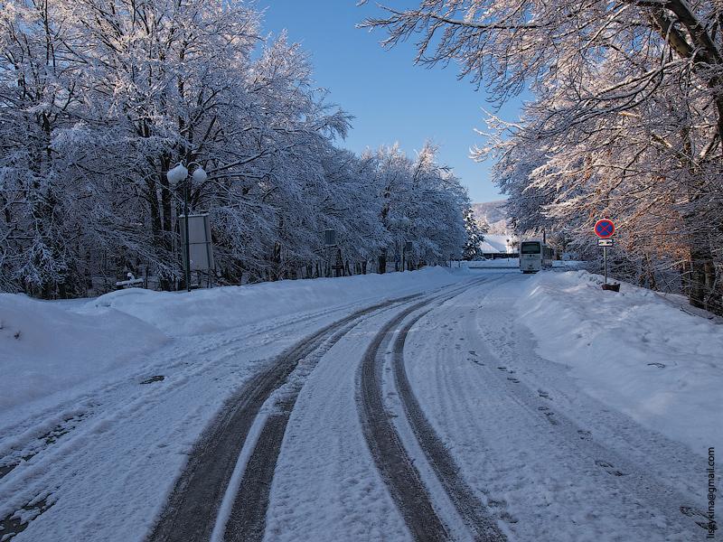 Winter Road. Croatia