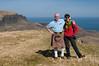 Jim and Yvonne on Bioda Buidhe (James_at_Slack) Tags: skye scarf scotland kilt boots yvonne earmuffs fleece sporran quiraing biodabuidhe