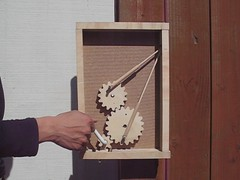 Wooden Gears Kinetic Sculpture (lionhug) Tags: sculpture mechanical gears kineticsculpture woodengears