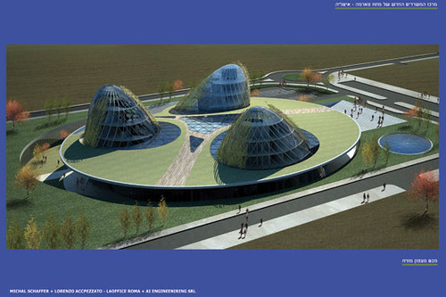 תכנון של המרכז החדש של מחוז פארמה – הפרויקט זכה בציון לשבח לפתרון חדשני בתחרות בינלאומית בשני שלבים (בשיתוף אדריכל לורנצו אקאפצאטו)
