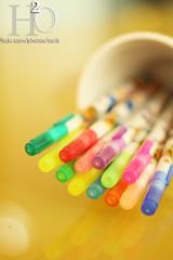 152/365 ,,, (H) Tags: morning pink blue red white color green colors yellow pen purple h2o pens                 masha3el masha3ell