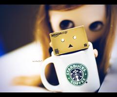 Don't drink me!!! (moobelle*) Tags: nerd soup doll starbucks mug blythe custom campbell takara danbo amazoncojp revoltech adorableaubrey