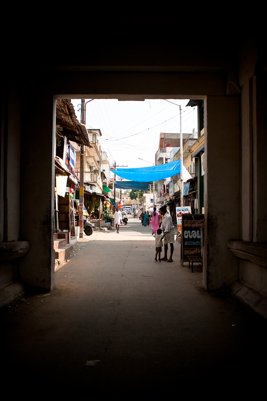 Entranceway to the inner main street - Melukote, Chitra Aiyer Photography