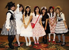 Group Shot (Lola Blue) Tags: lolitafashionshow kawaiikon2011