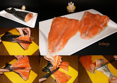 Marmitako de salmón-collage