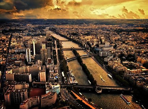 フリー画像| 人工風景| 街の風景| フランス風景| パリ| 夕日/夕焼け/夕暮れ|      フリー素材|