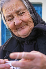 Amiras Woman 1 (Patricia Fenn) Tags: street old woman lady female rural canon outdoors photography photographer village grandmother lace craft hobby mature elderly tradition textiles ethnic handcraft pastime patriciafenn gettyimagesgreece1 patriciafenngallerycom