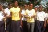PASCH - Schulen, Partner der Zukunft. Ambassadrice Priss'k au Lycée Moderne de Jeunes Filles de Yopougon, Abidjan, Côte d'Ivoire 30.10.2009 (0930)